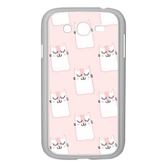 Pattern Cat Pink Cute Sweet Fur Samsung Galaxy Grand Duos I9082 Case (white)