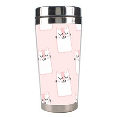 Pattern Cat Pink Cute Sweet Fur Stainless Steel Travel Tumblers