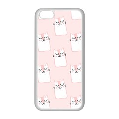 Pattern Cat Pink Cute Sweet Fur Apple Iphone 5c Seamless Case (white)