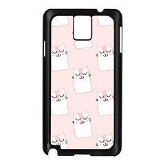Pattern Cat Pink Cute Sweet Fur Samsung Galaxy Note 3 N9005 Case (black)