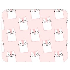 Pattern Cat Pink Cute Sweet Fur Double Sided Flano Blanket (medium)
