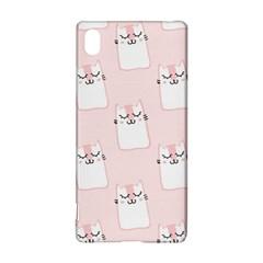 Pattern Cat Pink Cute Sweet Fur Sony Xperia Z3+