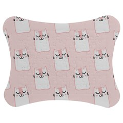 Pattern Cat Pink Cute Sweet Fur Jigsaw Puzzle Photo Stand (bow)