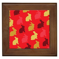 Hare Easter Pattern Animals Framed Tiles