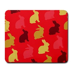 Hare Easter Pattern Animals Large Mousepads