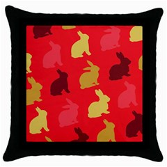Hare Easter Pattern Animals Throw Pillow Case (black)
