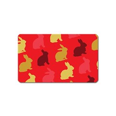 Hare Easter Pattern Animals Magnet (name Card)