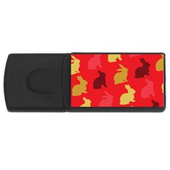 Hare Easter Pattern Animals USB Flash Drive Rectangular (4 GB)