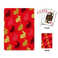 Hare Easter Pattern Animals Playing Card