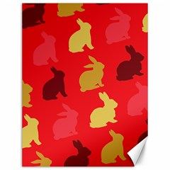 Hare Easter Pattern Animals Canvas 12  X 16