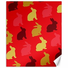 Hare Easter Pattern Animals Canvas 20  X 24