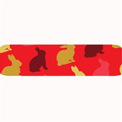 Hare Easter Pattern Animals Large Bar Mats