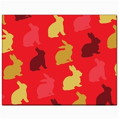 Hare Easter Pattern Animals Canvas 11  X 14