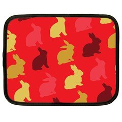 Hare Easter Pattern Animals Netbook Case (large)
