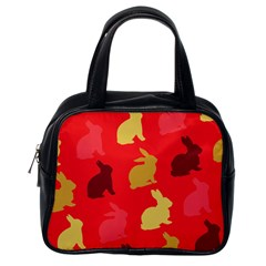 Hare Easter Pattern Animals Classic Handbags (one Side)
