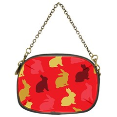 Hare Easter Pattern Animals Chain Purses (one Side)
