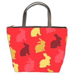 Hare Easter Pattern Animals Bucket Bags