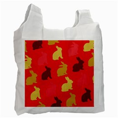 Hare Easter Pattern Animals Recycle Bag (two Side)