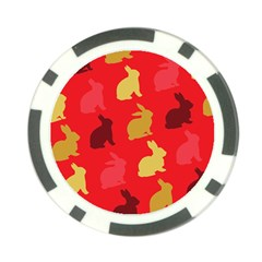 Hare Easter Pattern Animals Poker Chip Card Guard (10 Pack)