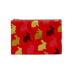 Hare Easter Pattern Animals Cosmetic Bag (medium)