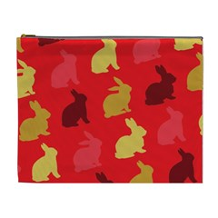 Hare Easter Pattern Animals Cosmetic Bag (xl)