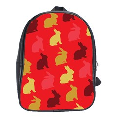 Hare Easter Pattern Animals School Bags(large)