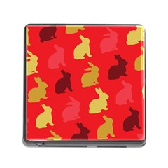 Hare Easter Pattern Animals Memory Card Reader (square)