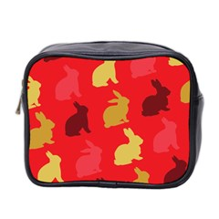 Hare Easter Pattern Animals Mini Toiletries Bag 2 Side