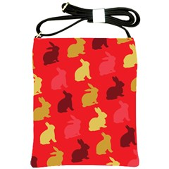 Hare Easter Pattern Animals Shoulder Sling Bags