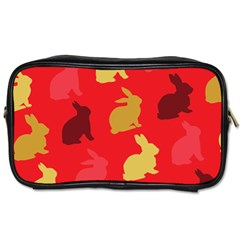 Hare Easter Pattern Animals Toiletries Bags 2 Side