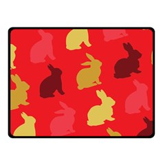 Hare Easter Pattern Animals Fleece Blanket (Small)