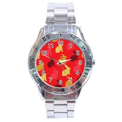 Hare Easter Pattern Animals Stainless Steel Analogue Watch