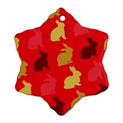 Hare Easter Pattern Animals Ornament (snowflake)