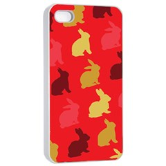 Hare Easter Pattern Animals Apple Iphone 4/4s Seamless Case (white)