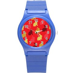 Hare Easter Pattern Animals Round Plastic Sport Watch (s)