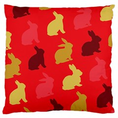 Hare Easter Pattern Animals Large Cushion Case (one Side)