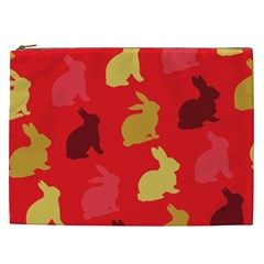 Hare Easter Pattern Animals Cosmetic Bag (xxl)
