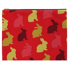 Hare Easter Pattern Animals Cosmetic Bag (xxxl)