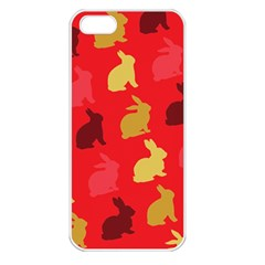 Hare Easter Pattern Animals Apple Iphone 5 Seamless Case (white)