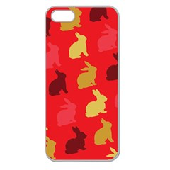 Hare Easter Pattern Animals Apple Seamless Iphone 5 Case (clear)