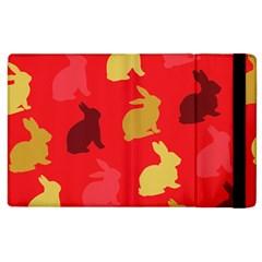 Hare Easter Pattern Animals Apple Ipad 3/4 Flip Case