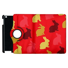 Hare Easter Pattern Animals Apple Ipad 3/4 Flip 360 Case