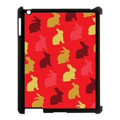 Hare Easter Pattern Animals Apple Ipad 3/4 Case (black)