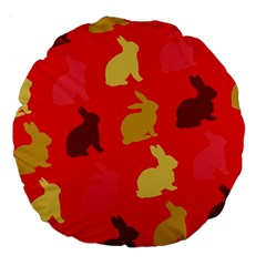 Hare Easter Pattern Animals Large 18  Premium Round Cushions