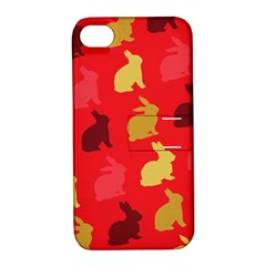 Hare Easter Pattern Animals Apple Iphone 4/4s Hardshell Case With Stand