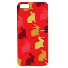 Hare Easter Pattern Animals Apple Iphone 5 Hardshell Case With Stand