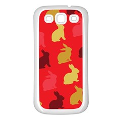 Hare Easter Pattern Animals Samsung Galaxy S3 Back Case (white)