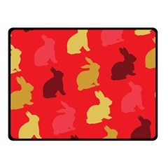 Hare Easter Pattern Animals Double Sided Fleece Blanket (small)
