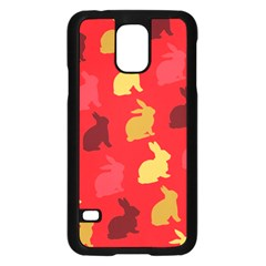 Hare Easter Pattern Animals Samsung Galaxy S5 Case (black)