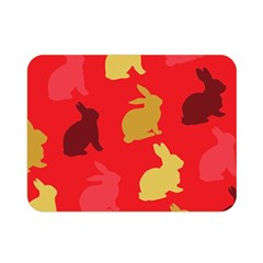 Hare Easter Pattern Animals Double Sided Flano Blanket (mini)